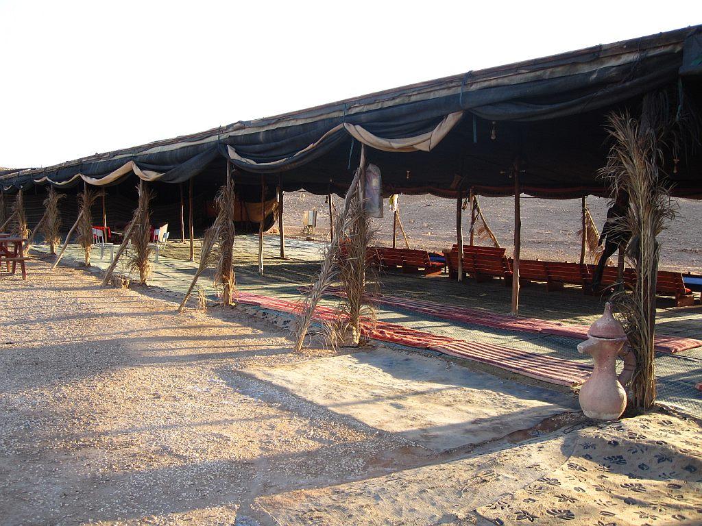 open bedouin tent